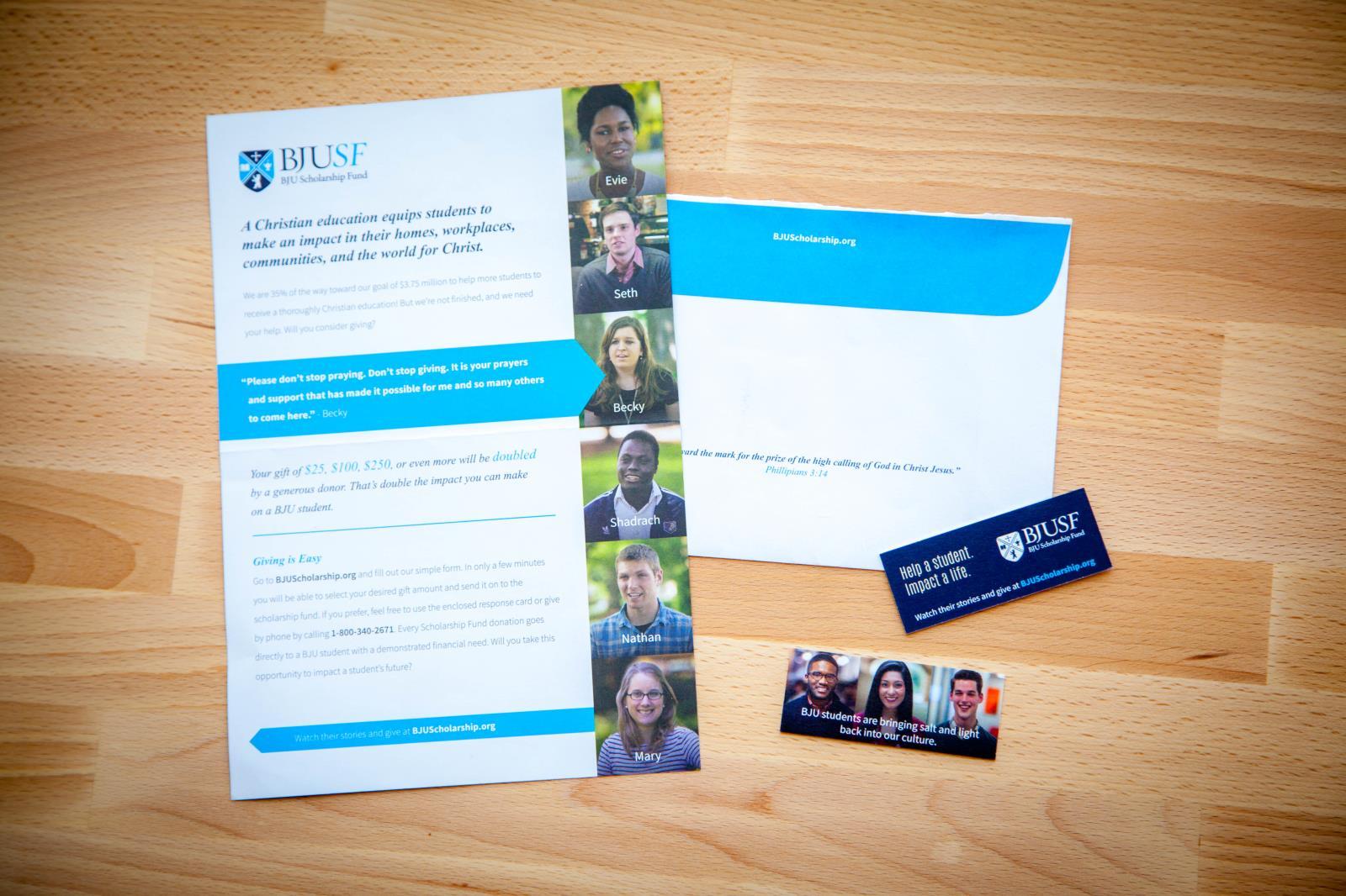 Bob Jones University Scholarship Fund :: Your Creative People