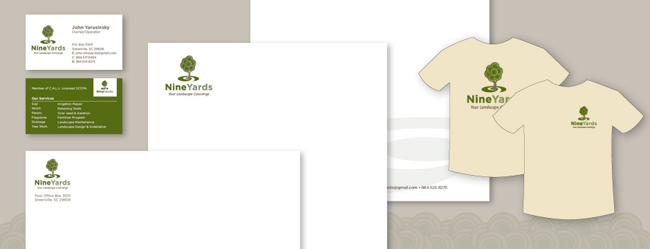landscaping name ideas colors lawn mowing business card ideas in